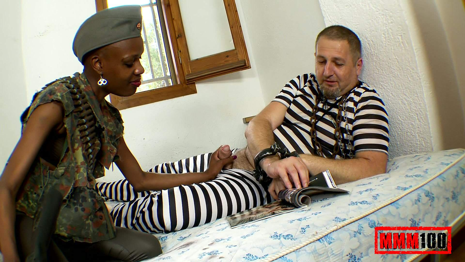 Bianka Blacka & Terry in Sex With A Sexy African Soldier – MMM100
